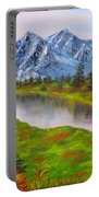 Fall In Mountains Landscape Oil Painting Portable Battery Charger