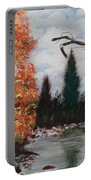 Fall In The Mountains Portable Battery Charger