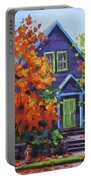 Fall In The Neighborhood Portable Battery Charger