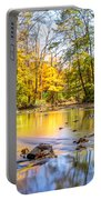 Fall In Wisconsin Portable Battery Charger by Steven Santamour