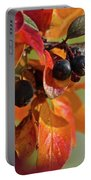 Fall Leaves And Berries Portable Battery Charger