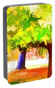 Fall Leaves Trees 1 Portable Battery Charger