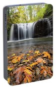 Fall Maple Leaves At Hidden Falls Portable Battery Charger