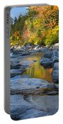 Fall Morning At Swift River Portable Battery Charger