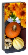 Fall Mums And Pumpkins Portable Battery Charger