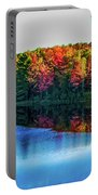 Fall On The Lake In Wisconsin Portable Battery Charger