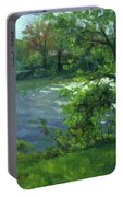 Fall On The Maumee River Portable Battery Charger