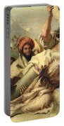 Fall On The Way To Calvary Portable Battery Charger by G Tiepolo