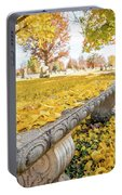 Fall Park Bench Portable Battery Charger