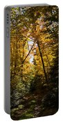 Fall Path In Golden Yellow Portable Battery Charger