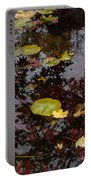 Fall Pond Reflections - A Story Of Waterlilies And Japanese Maple Trees - Take One Portable Battery Charger