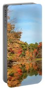 Fall Reflections On Sabattus River Portable Battery Charger