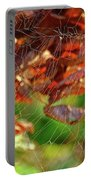 Fall Spiderweb Portable Battery Charger
