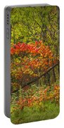 Fall Sumac Trees With Red Leaves In A Michigan Forest During Autumn Portable Battery Charger