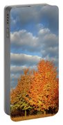 Fall Sunrise On Sugar Maple Along Route 31 Portable Battery Charger