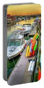 Fall Sunset On Shem Creek Portable Battery Charger