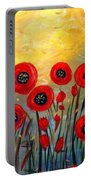 Fall Time Poppies  Portable Battery Charger