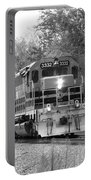 Fall Train In Black And White Portable Battery Charger by Rick Morgan