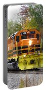 Fall Train In Color Portable Battery Charger by Rick Morgan