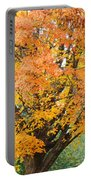 Fall Tree Art Print Autumn Leaves Portable Battery Charger