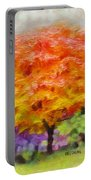 Fall Tree Portable Battery Charger