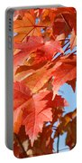 Fall Tree Leaves Art Prints Blue Sky Autumn Baslee Troutman Portable Battery Charger