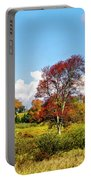 Fall Trees In Country Field Portable Battery Charger
