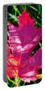 Fallen Maple Leaf Portable Battery Charger
