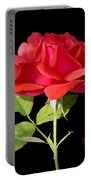 Fallen Red Rose Cutout Portable Battery Charger