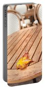 Fallen Yellow Autumn Leaf Portable Battery Charger