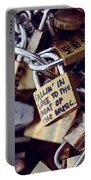 Falling In Love To The Beat Of The Music, Love Lock Portable Battery Charger