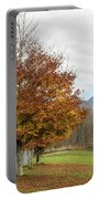 Falling Leaves In Silo Park Portable Battery Charger