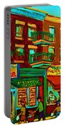Family Frolic On St.viateur Street Portable Battery Charger