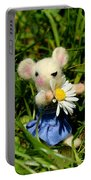 Family Mouse On The Spring Meadow Portable Battery Charger