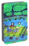 Family Picnic In Palau Portable Battery Charger