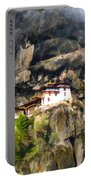 Famous Tigers Nest Monastery Of Bhutan 3 Portable Battery Charger