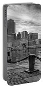 Fan Pier Boston Harbor Bw Portable Battery Charger