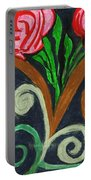 Fancy Flowers Portable Battery Charger