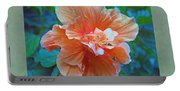 Fancy Peach Hibiscus Portable Battery Charger
