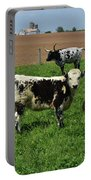 Fantastic Farm On A Spring Day With Cows Portable Battery Charger