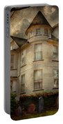 Fantasy - Haunted - The Caretakers House Portable Battery Charger by Mike Savad