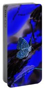 Fantasy Blue Butterfly Portable Battery Charger