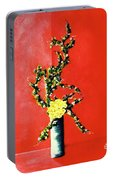 Fantasy Flowers Still Life #162 Portable Battery Charger