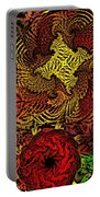 Fantasy Flowers Woodcut Portable Battery Charger