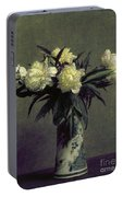 Fantin-latour: Peonies, 1872 Portable Battery Charger