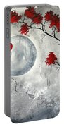Far Side Of The Moon By Madart Portable Battery Charger