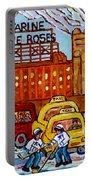 Farine Five Roses Montreal 375 Hometown Hockey Hotel Bonaventure Tour Bus Canadian Art C Spandau Art Portable Battery Charger