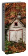 Farm - Barn - Our Old Shed Portable Battery Charger by Mike Savad