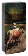 Farm - Cow - Going To Milk Mabel Portable Battery Charger