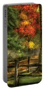 Farm - Fence - On A Country Road Portable Battery Charger